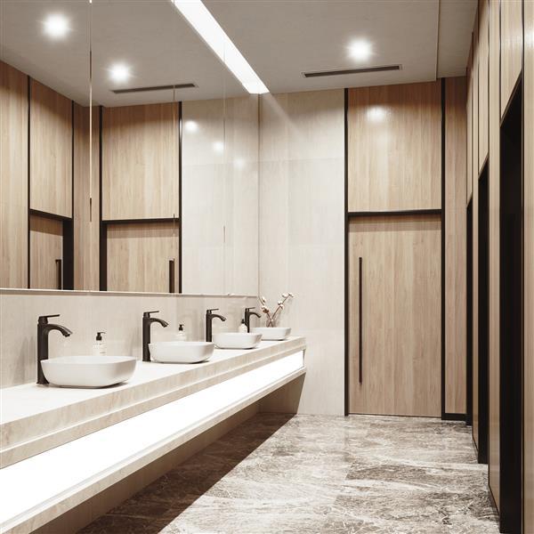 Ensemble de vasque de salle de bain et robinet, blanc