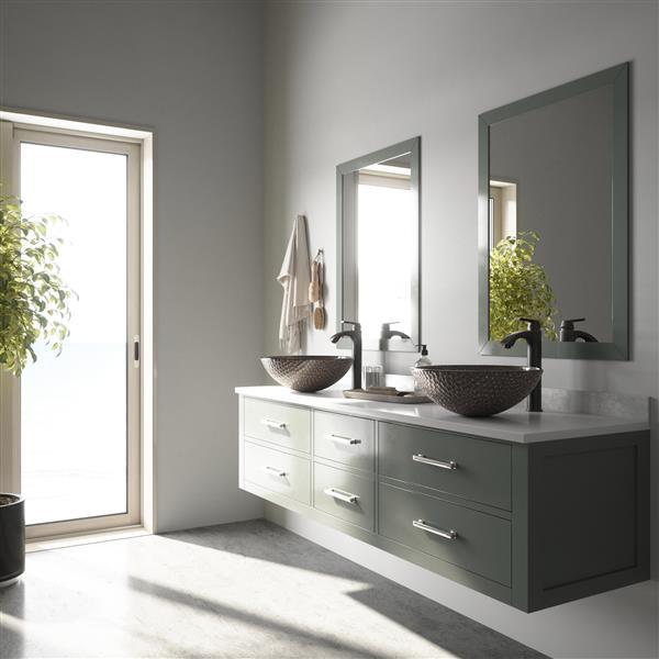 Ensemble de vasque de salle de bain et robinet, cuivre