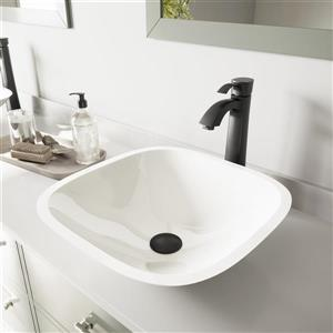 Vessel Bathroom Sink with Vessel Faucet