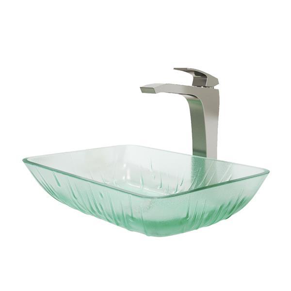 Glass Vessel Bathroom Sink With Vessel Faucet