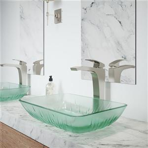 Glass Vessel Bathroom Sink With Vessel Faucet