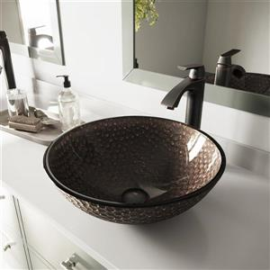 Glass Vessel Bathroom Sink - Copper
