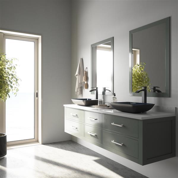 VIGO Vasque de salle de bain, turquoise VG07068 | RONA