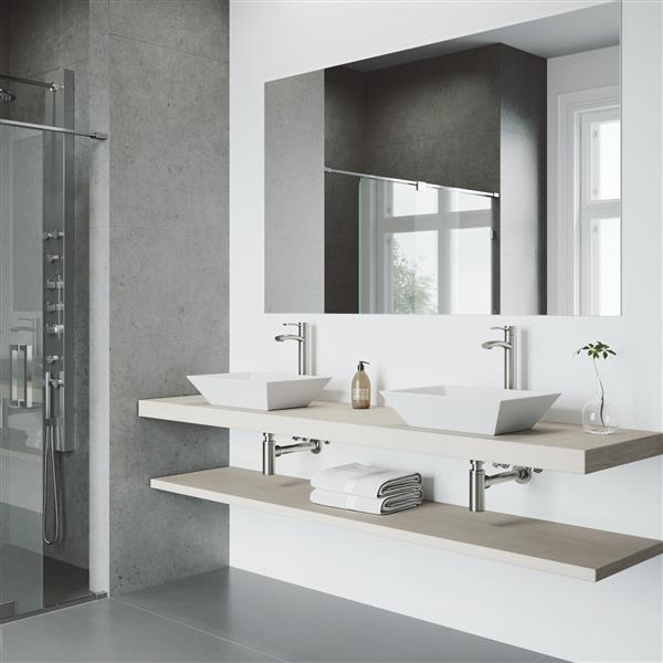 Milo Vessel Bathroom Faucet In Brushed Nickel