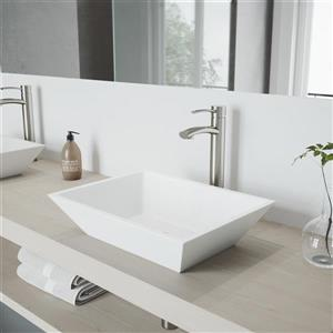 Milo Vessel Bathroom Faucet In Brushed Nickel
