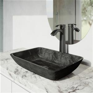 Otis Vessel Bathroom Faucet In Matte Black