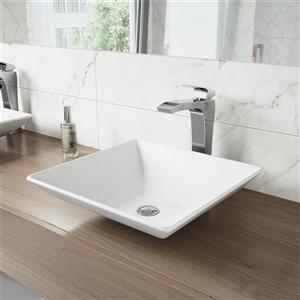 Robinet pour vasque de salle de bain, chrome