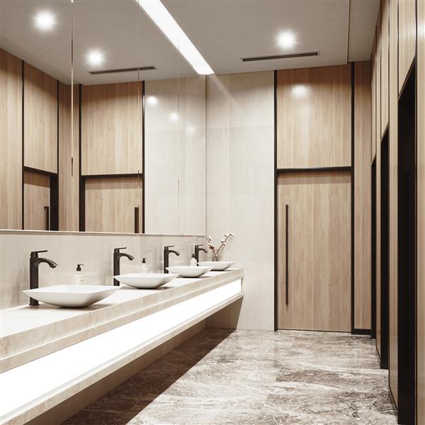 Robinet pour vasque de salle de bain,  bronze antique