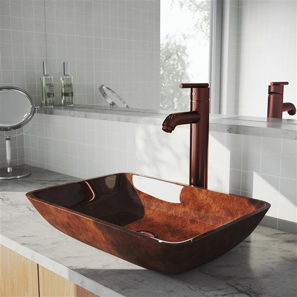 Robinet Pour Vasque De Salle De Bain, Bronze Huilé