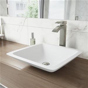 Robinet pour vasque de salle de bain Duris, nickel brossé