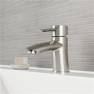 Bova Single Hole Bathroom Faucet In Brushed Nickel