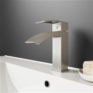 Vigo Single Hole Bathroom Faucet Satro - Brushed Nickel