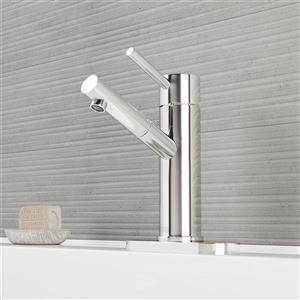 Single Hole Bathroom Faucet With Deck Plate - Chrome