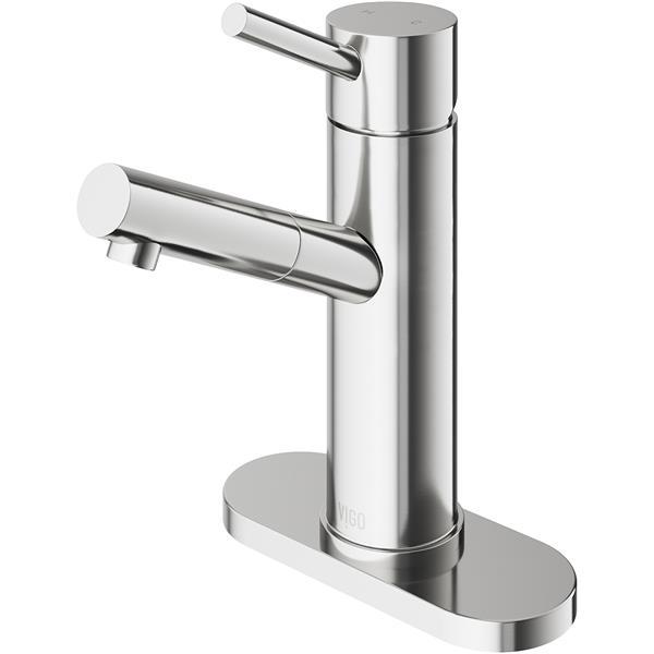 VIGO Single Hole Bathroom Faucet/Deck Plate - Norma