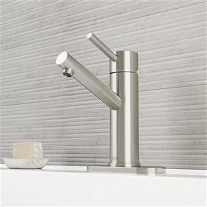 Robinet de salle de bain monotrou avec applique Norma