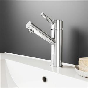 Robinet de salle de bain monotrou Norma, chrome