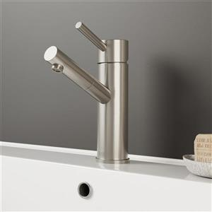 Nora Single Hole Bathroom Faucet - Brushed Nickel