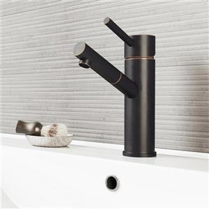 Norma Single Hole Bathroom Faucet/Pop-Up - Antique Bronze