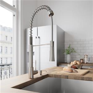 Vigo Laurelton Pull-Down Spray Kitchen Faucet - Stainless Steel