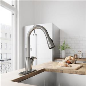 Romano Pull-Down Spray Kitchen Faucet With Deck Plate
