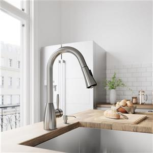 VIGO Aylesbury Pull-Down Spray Kitchen Faucet