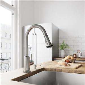 Vigo Astor Pull-Down Spray Kitchen Faucet - Stainless Steel