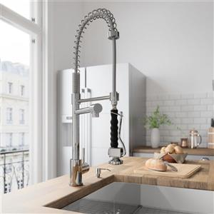 VIGO Zurich Pull-Down Spray Kitchen Faucet In Chrome