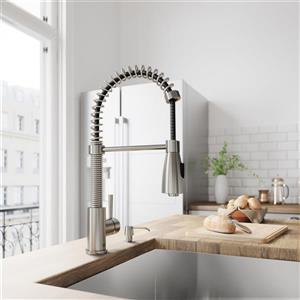 VIGO Brant Pull-Down Spray Kitchen Faucet
