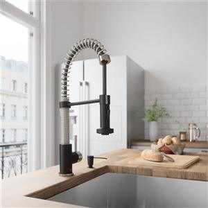 VIGO Edison Pull-Down Spray Kitchen Faucet - Matte Black