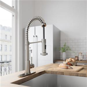Edison Pull-Down Spray Kitchen Faucet With Deck Plate