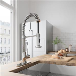 VIGO Edison Pull-Down Spray Kitchen Faucet With Deck Plate
