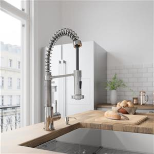 Edison Pull-Down Spray Kitchen Faucet In Chrome
