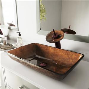 Glass Vessel Bathroom Sink - 22 1/2''