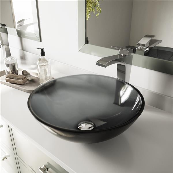 VIGO Glass Vessel Bathroom Sink