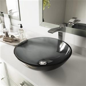VIGO Glass Vessel Bathroom Sink