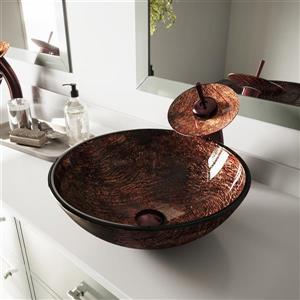 Glass Vessel Bathroom Sink - Kenyan
