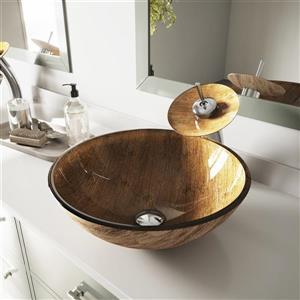 Vasque de salle de bain, verre