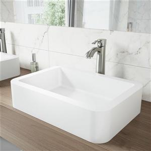Vessel Bathroom Sink - White