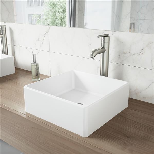 Vasque pour salle de bain, blanc