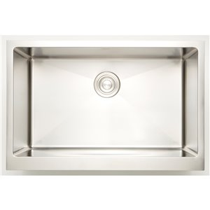 "American Imaginations Undermount Single Sink - 34"" - Stainless Steel"
