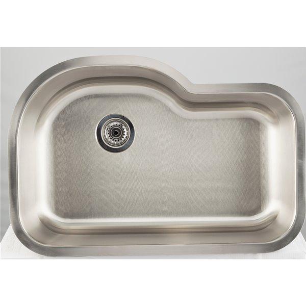 "American Imaginations Undermount Single Sink - 31.12"" - Stainless Steel"