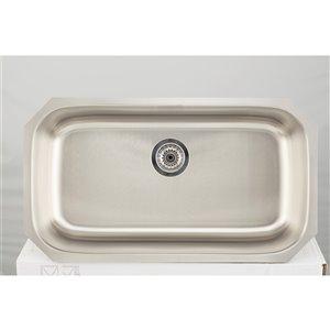 "American Imaginations Undermount Single Sink - 18"" - Stainless Steel"