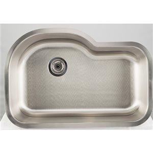 "American Imaginations Undermount Single Sink - 31.12"" x 21.25"" - Stainless Steel"