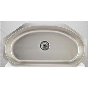 "American Imaginations Undermount Single Sink - 35.5"" x 18.5"" - Stainless Steel"
