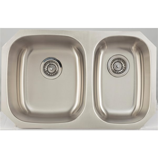 """American Imaginations Undermount Double Sink - 28.25"""" - Stainless Steel"""