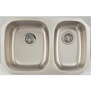 "American Imaginations Undermount Double Sink - 28.25"" - Stainless Steel"