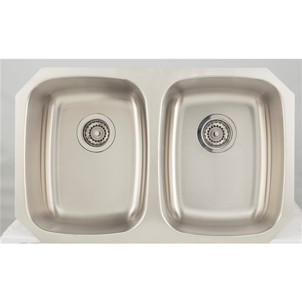 """American Imaginations Undermount Double Sink - 29.12"""" x 18.5"""" - Stainless Steel"""