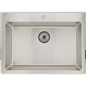 """American Imaginations Single Sink - 32"""" x 21"""" - Stainless Steel"""