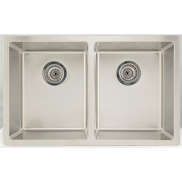 """American Imaginations Undermount Double Sink - 29"""" x 18"""" - Stainless Steel"""