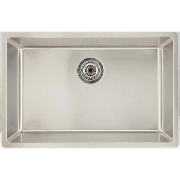"American Imaginations Undermount Single Sink - 27"" x 17.5"" - Stainless Steel"